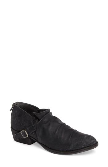 Matisse Wills Ruched Bootie In Black Leather