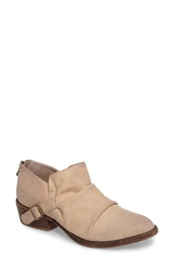 Matisse Wills Ruched Bootie In Ivory Leather