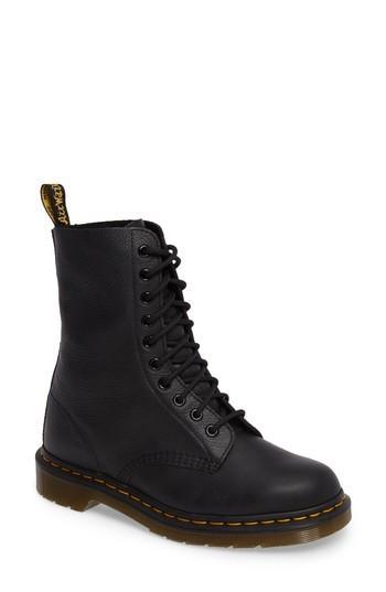 Dr. Martens R22524001 Women's 1490 Boot, Black Virginia 4