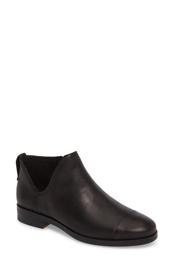 Timberland Somers Falls Short Ankle Bootie In Jet Black Swank Leather