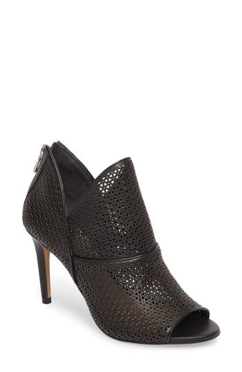 Vince Camuto Vatena Bootie In Black Nappa Leather