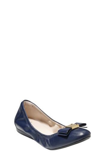 Cole Haan 'tali' Leather Ballet Flat In Blazer Blue