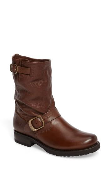 Frye 'veronica Short' Slouchy Boot In Cognac