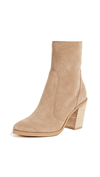 Splendid Women's Roselyn Ii Suede Block Heel Booties In Light Taupe