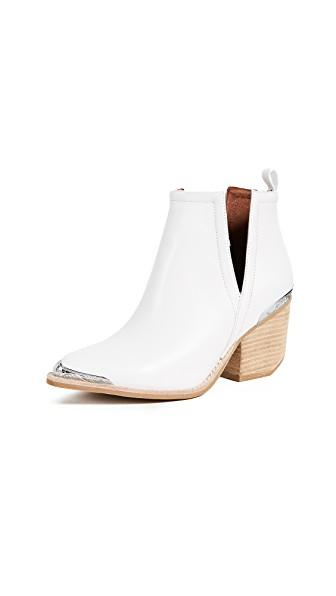 Jeffrey Campbell Cromwell Cutout Western Boot In White