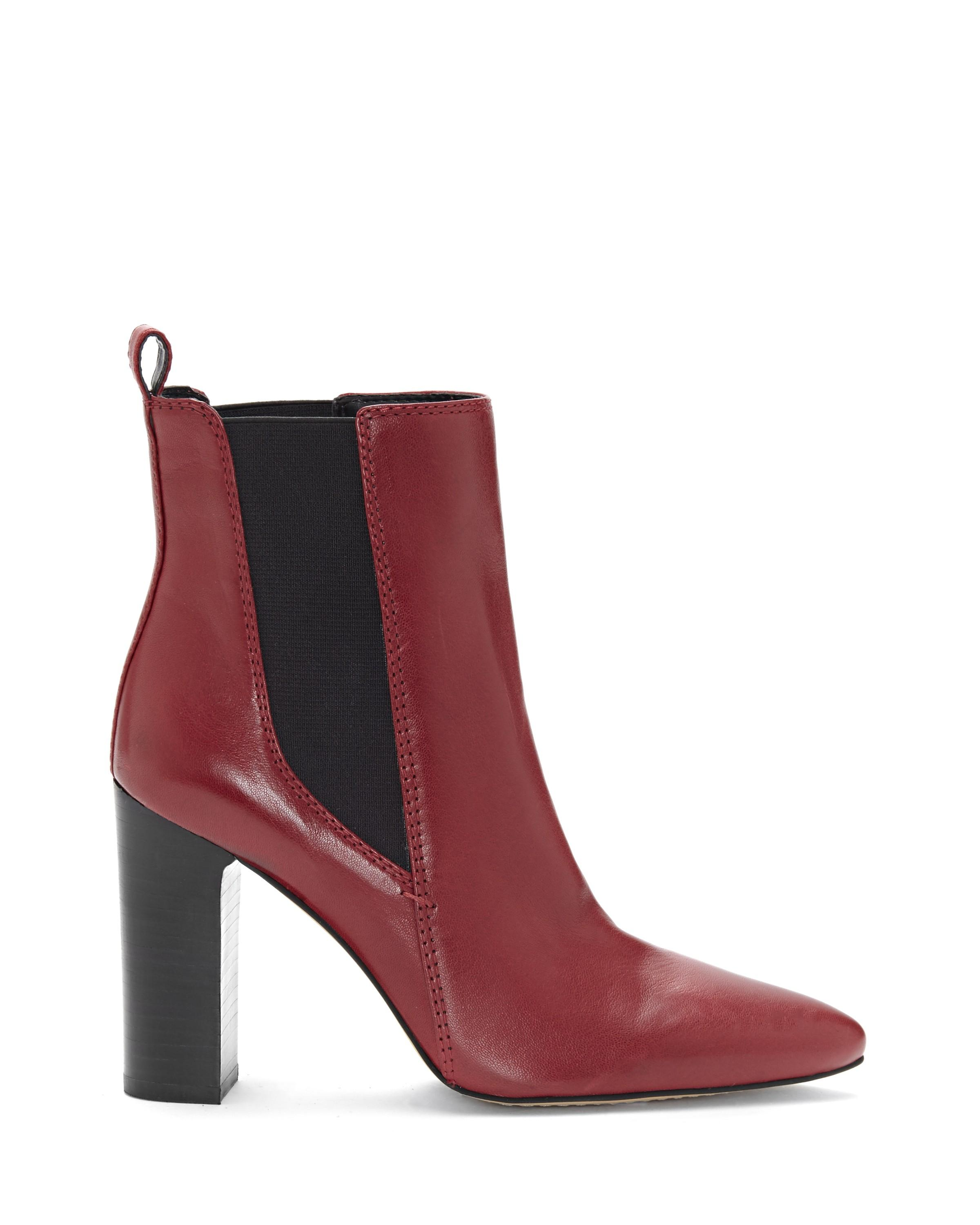 Vince Camuto Britsy Bootie In Rich Red