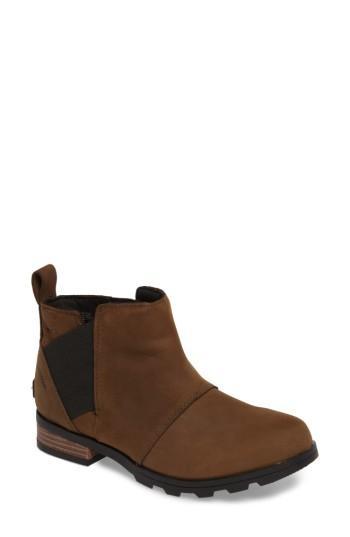 Sorel Emelie Waterproof Chelsea Boot In Major/ Black