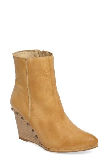 Matisse Viper Wedge Bootie In Natural Leather