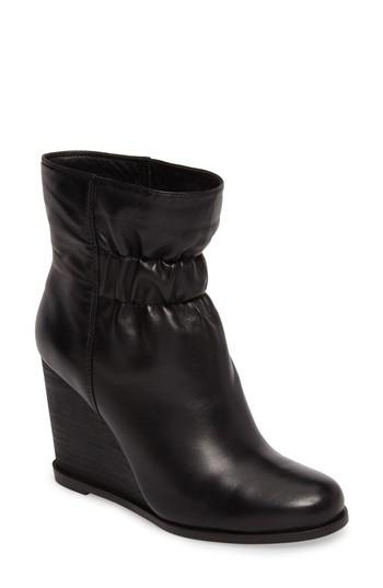 9f2b8ff771f Splendid Rebecca Wedge Bootie In Black Leather
