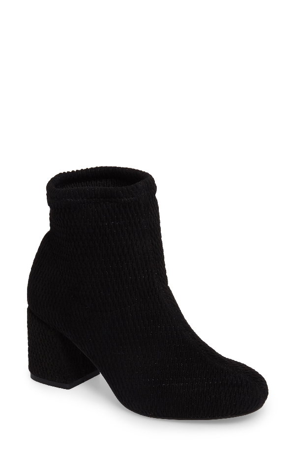 Seychelles Ad Lib Sock Bootie In Black Fabric