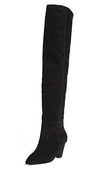 Jeffrey Campbell Senita Over The Knee Boot In Tan Suede