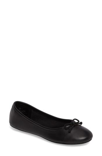 Steve Madden Thea Flat In Black Leather