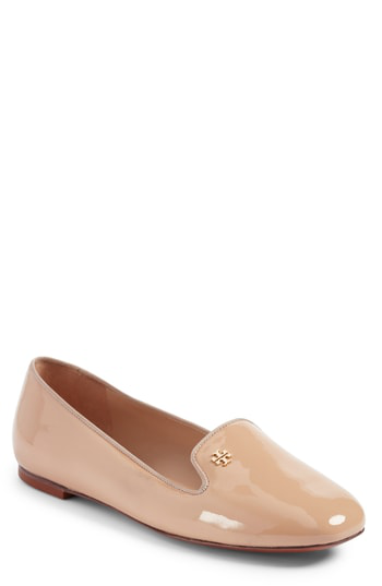 Tory Burch Samantha Patent Leather Loafers In Tory Beige