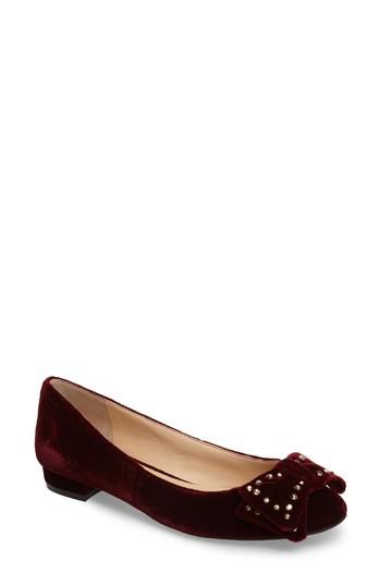 Vince Camuto Annaley Flat In Wine