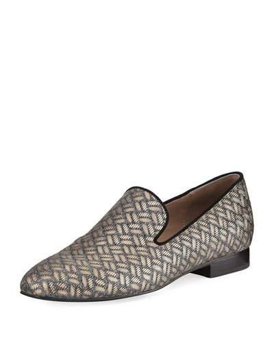 Donald J Pliner Lyle Loafer In Platino Leather