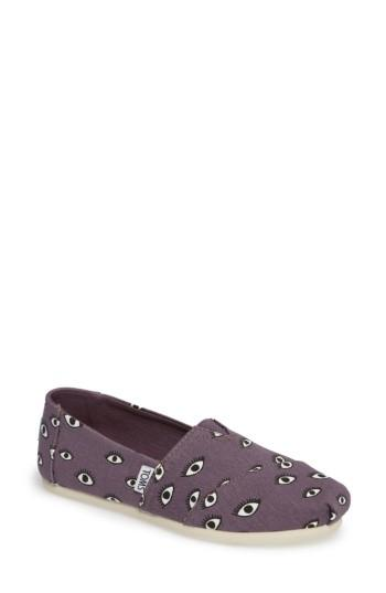 Toms Alpargata Slip-on In Black Plum