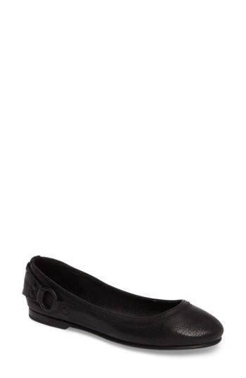 Frye 'carson Stud' Flat In Black