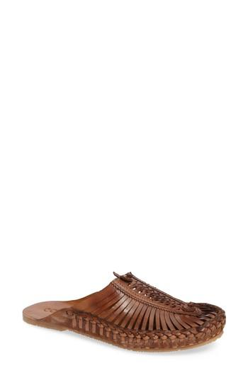 Matisse Morocco Woven Mule In Saddle Leather