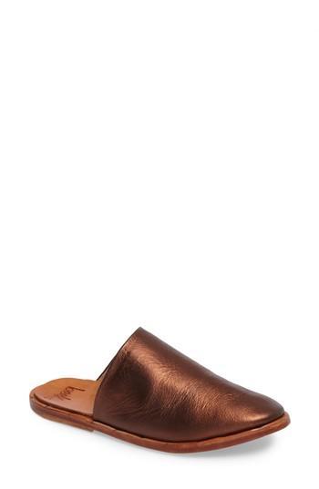Beek Seagull Mule In Copper Leather