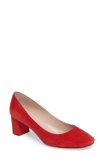 db166534d2 Kate Spade 'Dolores' Block Heel Pump In Poppy Red | ModeSens