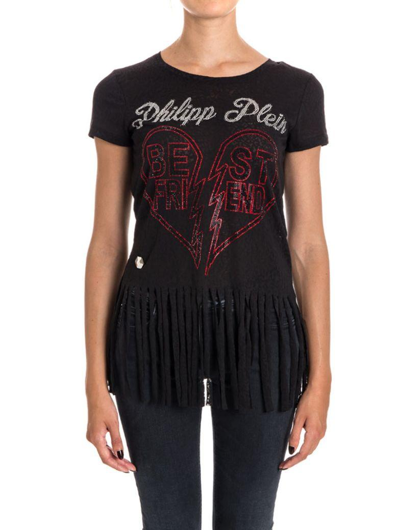 Philipp Plein Balinay Jap Cotton Blend T-shirt In Black