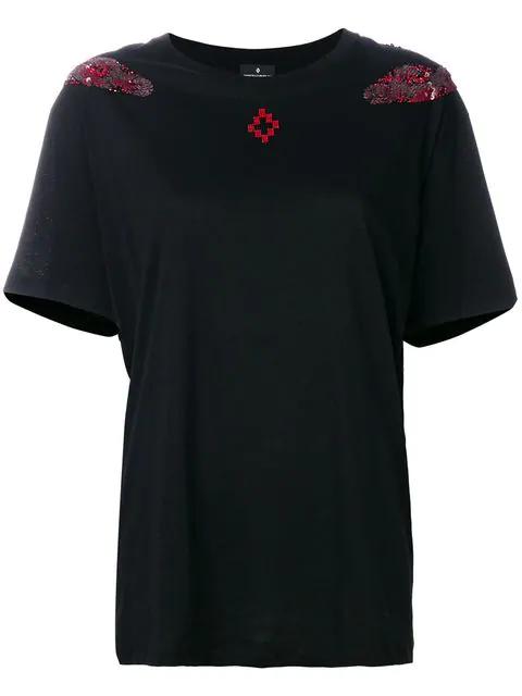 Marcelo Burlon County Of Milan Pachu Black Cotton T-shirt