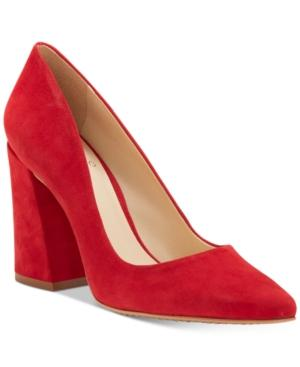 1a7bda468a Vince Camuto Talise Pointed Block-Heel Pumps Women's Shoes In Cherry Red