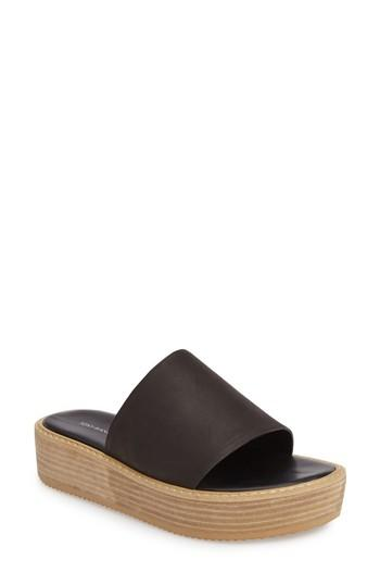 2a46154f959 A stacked wedge heel and platform enhance the on-trend vibe of a leather  slide sandal with wear-with-everything appeal. Style Name  Tony Bianco Elke  ...