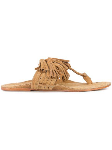 Figue Scaramouche Sandals In Desert Suede
