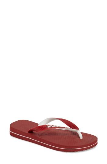 Havaianas Top Mix Usa Flag Flip Flop In Red
