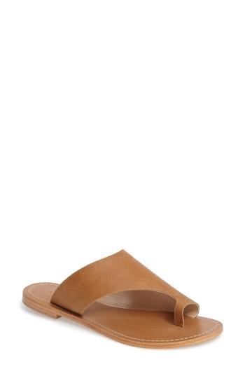 Tony Bianco Fleet Slide Sandal In Tan Leather