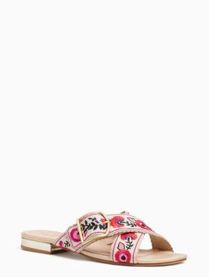 Kate Spade Faris Sandals In Natural Canvas