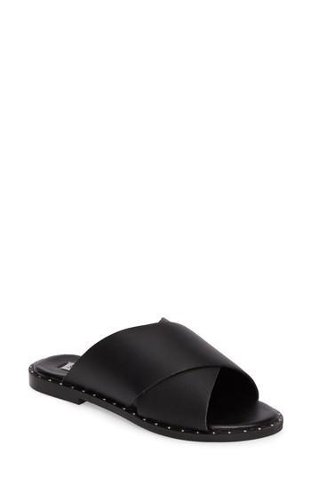 Steve Madden Alpha Slide Sandal In Black