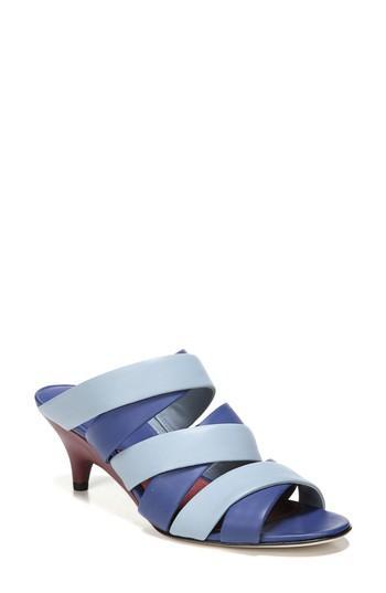 Diane Von Furstenberg Woman Ghanzi Two-tone Leather Mules Blue
