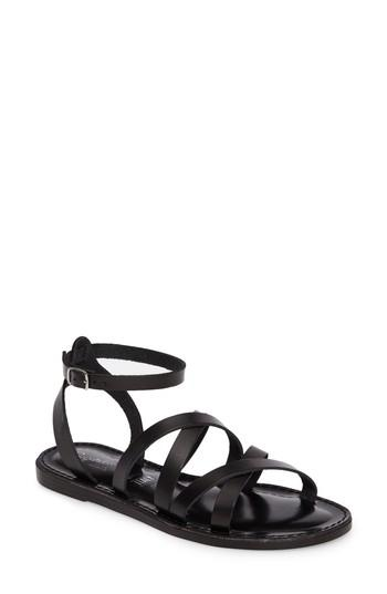 Seychelles In The Shadows Sandal In Black Leather