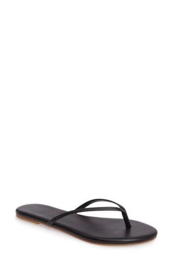 Splendid 'madrid' Flip Flop In Black/ Black Leather