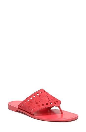 Diane Von Furstenberg Ekati Embroidered Sandals In Vintage Pink