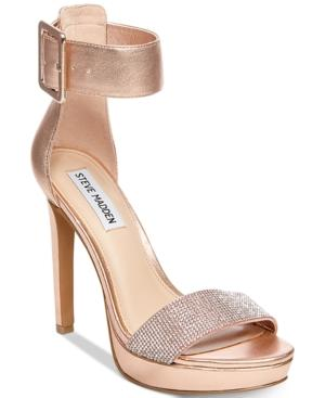 Steve Madden Women's Circuit Two-piece Dress Sandals In Rose Gold Leather