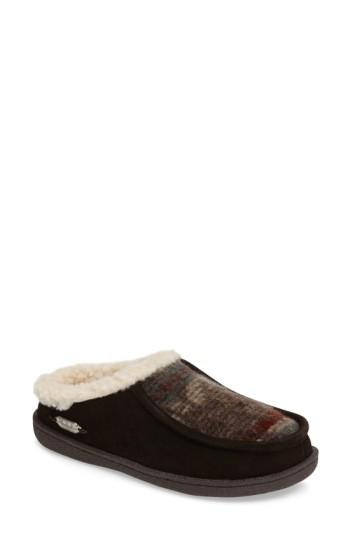 Woolrich Plum Ridge Slipper In Java/ Blanket Wool