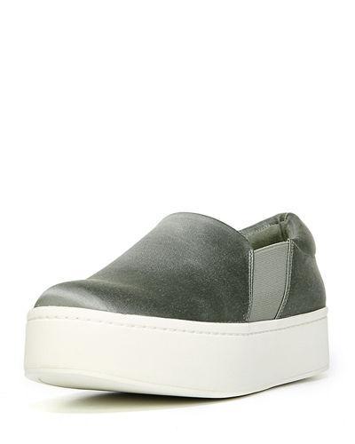 Vince Warren Slip-on Sneaker In Sage Satin