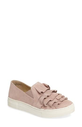 Seychelles Slip-on Suede Ruffle Sneakers In Taupe