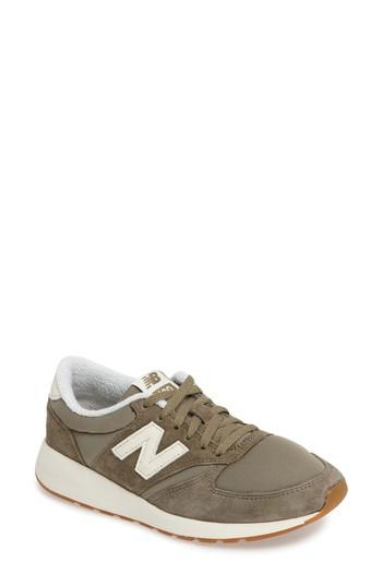New Balance Women's 420 Suede Casual Sneakers From Finish Line In Covert Green