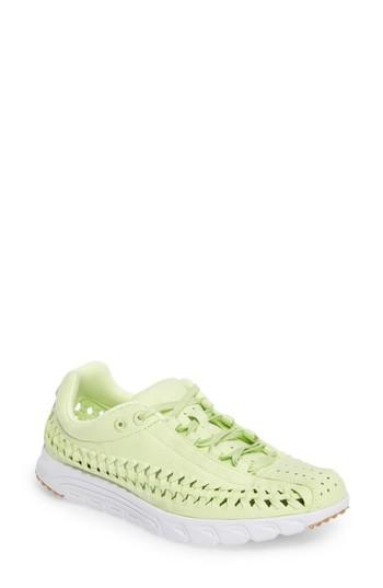 Nike Mayfly Woven Qs Sneaker In Liquid Lime/ Liquid Lime