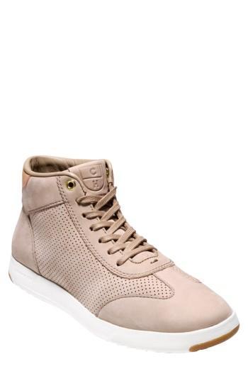 Cole Haan Grandpro High Top Sneaker In Maple Sugar Nubuck Leather