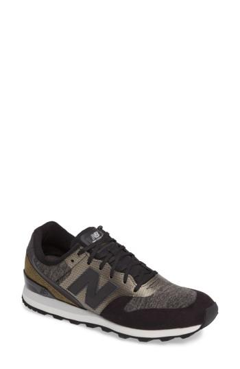 New Balance Women's 696 Re-engineered Casual Shoes, Black In Grey