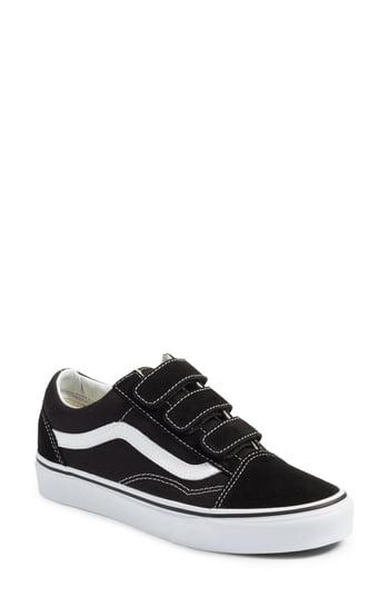 Vans Old Skool V Pro Sneaker In Black/ True White
