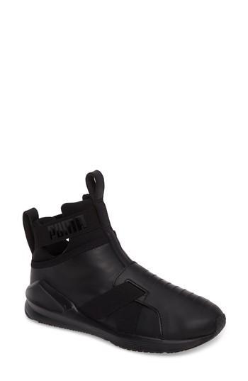 Puma Fierce Strap Training Sneaker In Black