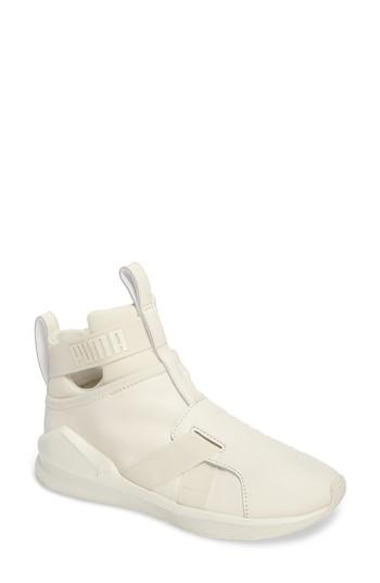 Puma Fierce Strap Training Sneaker In Whisper White