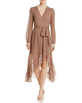 Wayf Only You Ruffle Wrap Dress - 100% Exclusive In Brown