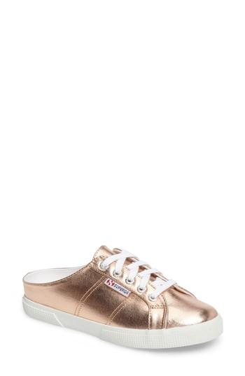 Superga 2288 Sneaker Mule In Rose Gold